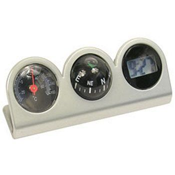 Custom Accessories 11159 Clock Compass and Thermometer Combo