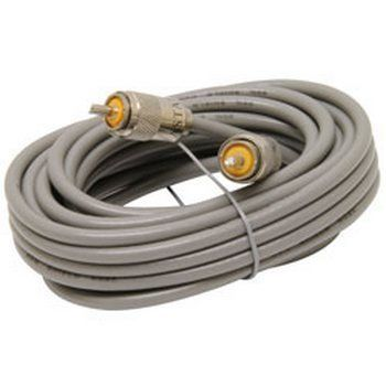 Astatic 302-10267 18' RG8X Cable with PL259 Connectors Grey (A8X18)