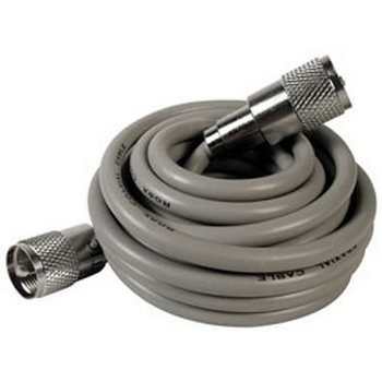 Astatic 302-10268 3' RG8X Cable with PL259 Connectors Grey (A8X3)
