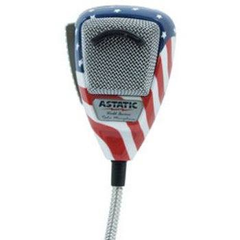 Astatic 302-10309 636L Noise Canceling 4-Pin CB Microphone Stars N' Stripes