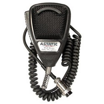 Astatic 302-636LB1 636L Noise Canceling 4-Pin CB Microphone Black Bulk