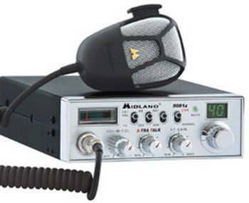 Midland 5001Z 40 Channel Digital Tuner CB Radio with X-Tra Talk Microphone Control