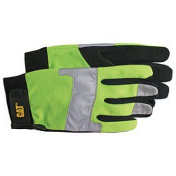 Boss / Cat Gloves CAT012214L High Visibility Utility Glove  Large