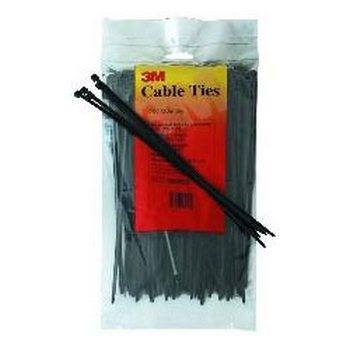3M PB4BK18C 4 Nylon Cable Ties Black 100-Pack