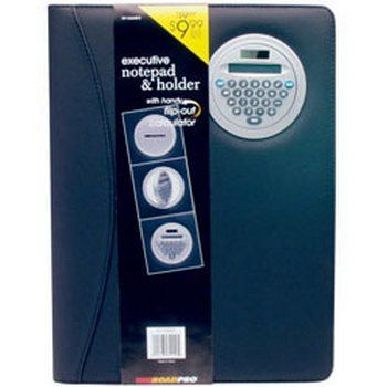 RoadPro RP-72009EN Executive Notepad Holder with Calculator