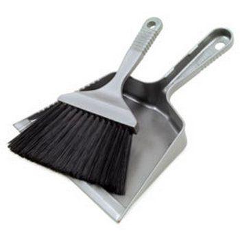 RoadPro RP93500 Small Dust Pan and Brush Grey