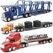 New-Ray Toys AS13470NR 1:32 Scale Die-Cast KW/ PB/ INTL Longhauler Flatbed Trucks Assortment