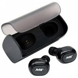 MobileSpec MBS11200 Stereo True Wireless Earbuds with Charging Case Black